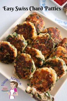 Weather you call these Swiss Chard patties or Swiss Chard Cakes these make amazing appetizers or sides. They are so versatile they can be served with any meal from breakfast to dinner. You can serve them on their own as a snack or sandwich filling too. Side Dish Recipes, Vegetable Recipes, Vegetarian Recipes, Cooking Recipes, Healthy Recipes, Side Dishes, Cooking Swiss Chard, Swiss Chard Recipes, Best Appetizers