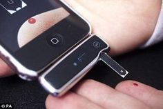 The Sanofi iBGStar blood glucose monitor, which connects directly into the Apple iPhone and iPod touch, allows people with insulin-dependent diabetes to manage the blood glucose levels by josie