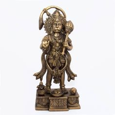 Amazon.com: Statue of Hanuman Brass Figurines and Statues Indian Gift Ideas: Home & Kitchen