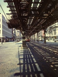 Photographic Print: Elevated Rail and Streetcar in New York Times Square by Andreas Feininger : Life Magazine, Digital Technology, Brooklyn Bridge, New York Times, Professional Photographer, Framed Artwork, Find Art, New York City, Times Square