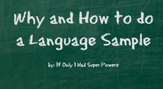 Why and How to do a Language Sample