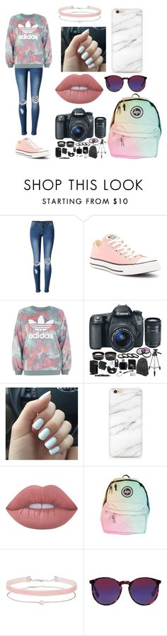"""Pink looks good with Black"" by rainbowsdear on Polyvore featuring WithChic, Converse, adidas, Eos, Lime Crime, Miss Selfridge and McQ by Alexander McQueen"