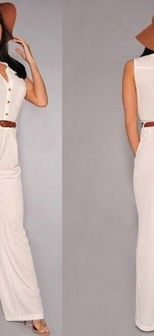 Cheap Ladies Sleeveless White Jumpsuits For Women