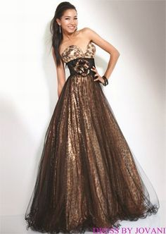 long animal print prom dress | ... Neckline | Cocktail Dresses - Short Prom, Formal & Evening Dresses