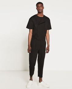 NEW spring and summer loose jumpsuit pants trousers thin overalls tide Men's short-sleeved Rompers singer stage costumes New Mens Fashion, All Fashion, Fashion Outfits, Fashion Rings, Mono Zara, Looks Pinterest, October Fashion, Versace, Zara Man