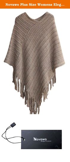 Novawo Plus Size Womens Elegant Tassel Poncho Cape Shawls Batwing Knit Sweater Cloak. Ponchos are the hottest trend out in the fashion world. With the cold seasons coming up, be prepared with this adorable stylish poncho sweater. Unlike a regular poncho that can still be cold, this is actually a sweater that will keep your body warm and cozy! The prints and trim will add character to this unique sweater. Pair it with leggings, jeans, or even a cute skirt! .