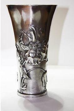 Art-Nouveau-Kayserzinn-Pewter-Vase-No-4090