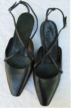 Yohji Yamamoto Criss Cross Ballet Strap Flats