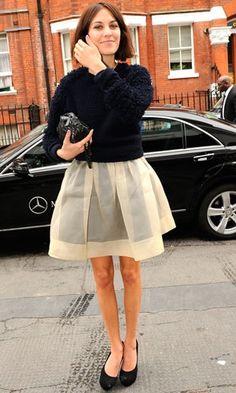 5823d155277  Alexa Chung in SS11 Organza Dress Alex Chung