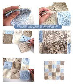 cojin granny squares 4 Cojín de crochet de Granny Squares Modelo 1 #DIY