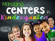 Centers don't have to be intimidating! Click through for some great tips and tricks for managing centers in kindergarten. | literacy | organization | beginning of the year | setup | rotation | ideas | fun | management | activities
