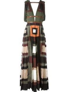 panelled evening dress £8,800 #Farfetch #love #Valentino