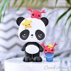 Cat Cake Topper, Cake Topper Tutorial, Cake Toppers, Fun Crafts, Crafts For Kids, Craft Kids, Panda Cakes, Cute Winnie The Pooh, Origami