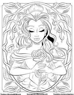 Coloring Pages ! - Make your world more colorful with printable coloring pages. Free coloring pages for adults and kids, from Star Wars to Mickey Mouse Belle Coloring Pages, Disney Coloring Sheets, Disney Princess Coloring Pages, Disney Princess Colors, Printable Adult Coloring Pages, Cute Coloring Pages, Disney Colors, Cartoon Coloring Pages, Coloring Books