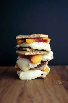 Make Peach, Brie, and Dark Chocolate S'mores | 39 S'mores Hacks That Will Change Your Life
