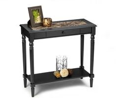 Convenience Concepts M6042189 French Country Foyer Hall Table with Drawer and Shelf, Black Faux Marble Convenience Concepts,http://www.amazon.com/dp/B002WS2IQM/ref=cm_sw_r_pi_dp_V9LAtb18A6R3M4QC