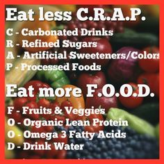 This is great advice to follow when choosing what we eat. Let's all make better choices when it comes to what we put in our bodies, it's the only one we have.