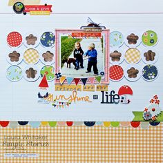 Simple Stories Bloom and Grow - Friends are the Sunshine of Life Kids Scrapbook, Scrapbooking Layouts, Scrapbook Pages, Simple Stories, Hello Autumn, Cute Quotes, Whimsical, Card Making, Bloom