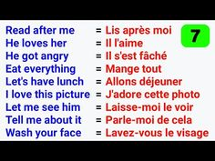Les phrases les plus utilisées en anglais ● The Most used phrases in English ✪ #7 - YouTube French Words Quotes, Basic French Words, French Phrases, How To Speak French, Learn French, French Language Lessons, French Lessons, French Sentences, French Flashcards