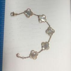"Clover bracelet lucky Pink metal bracelet 6 3/4"" please see pictures. Jewelry Bracelets"