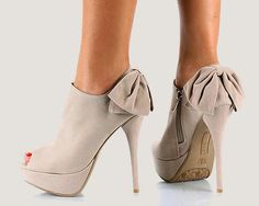 Cute taupe open toe booties