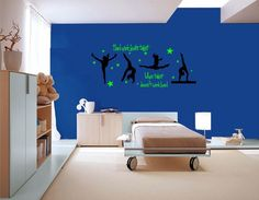 Hard work beats talent when talent does'nt work hard - GYMNASTICS - Wall Decals - Bedroom Decor