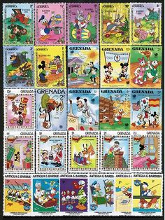 Disney, 300 different stamps collection @Stephanie France