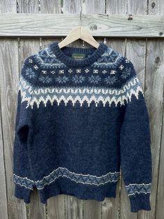 Vintage Nordic Blue Snowflake Sweater