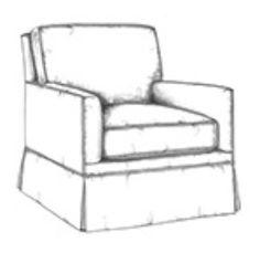 HF 720   Tailored Lounge Chair   Hallman Furniture