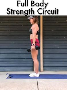 fitness If you want to build lean muscle & challenge your body but you don't have an hour to do it, this 35 minute strength circuit is for you! Fitness Workouts, At Home Workouts, Fitness Tips, Po Trainer, Whole Body Workouts, Dumbbell Workout, Workout With Dumbbells, Boxing Workout, Body Fitness