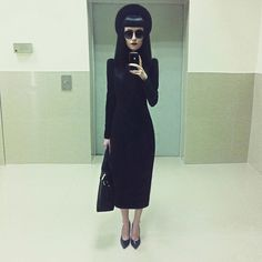 If you are goth... Then you should start dressing like this instead of the ugly shit ya'll wear. ☺️