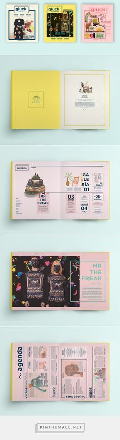 Revista Gluck on Behance - #editorial #diagramação