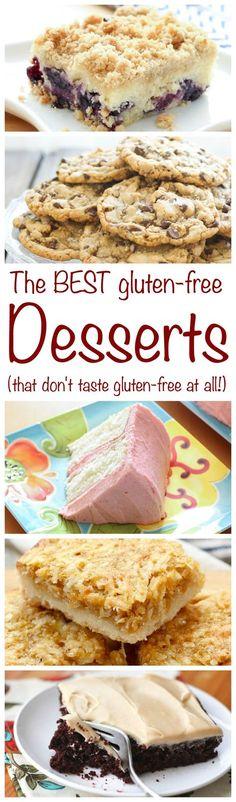 The BEST Gluten Free Desserts shouldn't taste gluten-free! get the recipes at barefeetinthekitchen.com