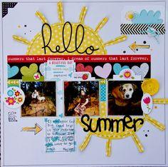 #Papercraft #Scrapbook #Layout. Hello Summer