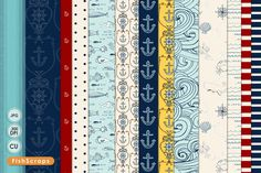 Nautical Pattern Paper - Anchors ~ Patterns on Creative Market @Pinterest Creative Market #CreativeMarket #Patterns #Nautical