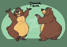 Denver the Bear by Eligecos on DeviantArt Cartoon Sketches, Animal Sketches, Animal Drawings, Storyboard, Zootopia Concept Art, Bear Sketch, Cute Bear Drawings, Bear Character, Bear Pictures