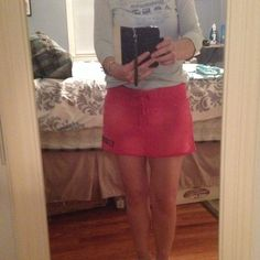 Pink mini skirt Great as a beach coverup.   Sweat material Old Navy Skirts Mini