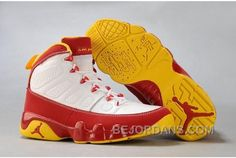 huge selection of bcc8b 6a1d5 Buy Jordan Retro 9 Ix Mens Red Yellow White Shoe from Reliable Jordan Retro  9 Ix Mens Red Yellow White Shoe suppliers.Find Quality Jordan Retro 9 Ix  Mens ...