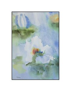 """Original Watercolor by Susan Marie Fairclough, Lily Abstract, 12"""" X 18"""" Unmatted"""