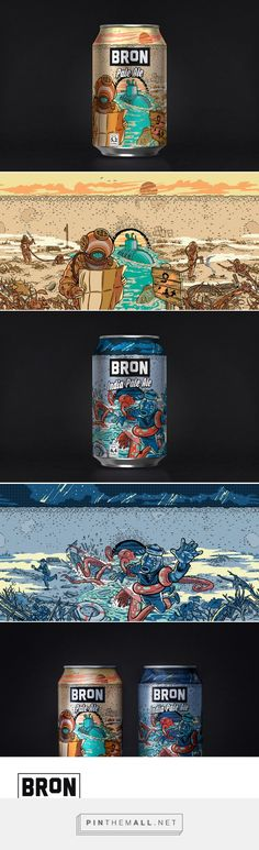 "Åbro Bron Ales / beer /  Bron means the bridge in swedish. And with that name Åbro has introduced a new two beer series launched in 33 cl cans: a Pale Ale, and an India Pale Ale. ""Under the bridge"" is a place where anything and everything can happen. Fishermen tales, submarines and lost divers, river beasts with monstrous tentacles..."
