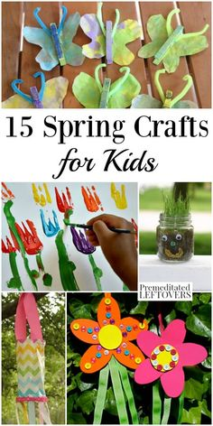 These spring crafts for kids are perfect for classroom activities or enjoying with your children. They include everything from bird feeders and gardening projects to tie dyed tees and sun visors. Spring Activities, Classroom Activities, Activities For Kids, Fun Arts And Crafts, Crafts To Do, Diy Crafts, Spring Crafts For Kids, Fall Crafts, Crochet Christmas Gifts