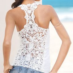 Racer-Back Crochet Tank Top