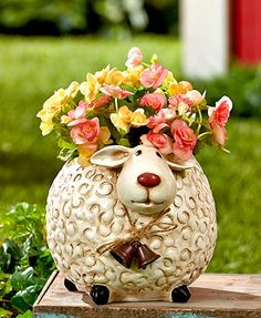 Roly Poly Sheep Planters