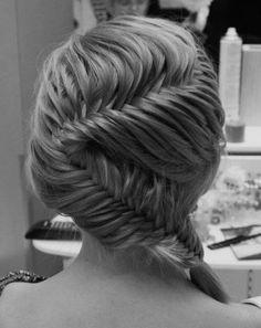 Wunderschöne Französisch Fishtail Braid Hochzeit Frisur ♥ Best Hochzeit Frisuren