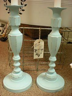 Painted brass candlesticks - good idea...since brass just tarnishes