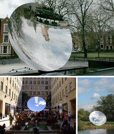 Mirror Art: 3 Mesmerising Examples of Interactive and Reflective Sculptures Stained Glass Panels, Stained Glass Art, Reflective Sculpture, Interactive Mirror, Funky Mirrors, Shadow Images, Anish Kapoor, Circular Mirror, Steel Sculpture