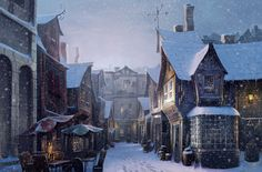 Diagon Alley in the snow