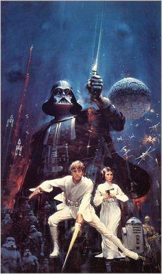 John Berkey artwork for the original Star Wars book cover (1976)