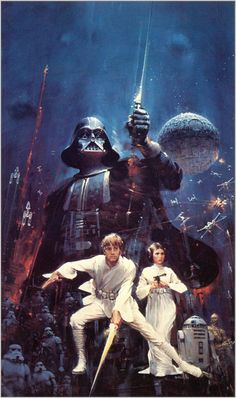 John Berkey artwork for the original Star Wars book cover (1976)