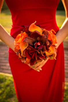 Wedding bouquet Bridesmaid bouquet Autumn by BrideinBloomWeddings